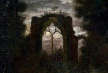 The Romantic Landscape / In search of the sublime! Trees, light emerging from the gloom and a touch of the transcendental in art from the 19th century to the present. Sturm und Drang!