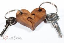 woode heart diy