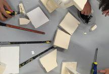 Samen Sterk / Samen werken tijdens werken met verschillende materialen en technieken.