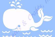 stencil: soggetti marini