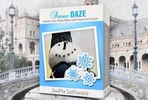 Snow Daze / Create a snowy day memory with your picture. Using light, clouds, contrast and texture along with light to heavy snowfall you can create a snowy scene with amazing realistic results. Available on Mac/Win/iOS/Android