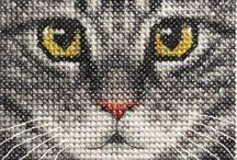 Коты вышивки