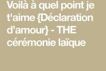 Ceremonie texte