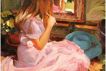 miroir et peinture