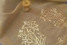 Shisha and metal embroidery