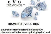eVo Diamonds / The Evolution of Diamonds  Environmentally sustainable lab grown diamonds with the same optical, physical, and chemical properties of natural diamonds.