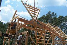 Timber frame raising photos / Photos of timber frame raising we thought you would enjoy.