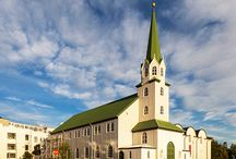 Iceland churches / Beautiful churches blooming in the city of Iceland! :)