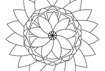 Free Coloring pages / My own mandala designs! :)