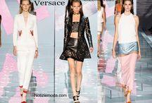 Versace / Versace collezione e catalogo primavera estate e autunno inverno abiti abbigliamento accessori scarpe borse sfilata donna.