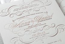 Embossed invitation
