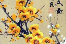 Sarı japon çiçek