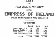 empress of Ireland...Great great  grand parents Charles and Martha Tylee / My great great grandparents Tylee were on this ship when it sank...both died..one body was recovered