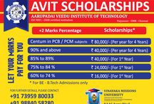 AVIT Scholarships / Click this board to know more about the scholarships available at Aarupadai Veedu Institute of Technology, Chennai.