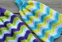 crochet hand towel holder