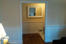 The Brown Residence / Pocket door and wainscoting installation
