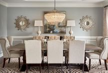 dining room same grey as outside chairs apholstered in plain paler shade