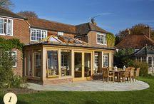 Oak framed garden rooms / Beautiful handmade green oak garden rooms