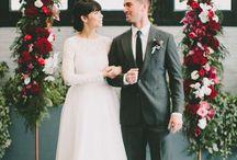 red wedding decor
