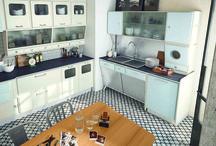 Marchi group Cucine / St Louis di Marchigroup cucine, è una cucina che si ispira agli anni '50, periodo di innovazione e creatività, dal quale eredita l'utilizzo di legni laccati in colori tenui, le forme arrotondate, l'aspetto accogliente e al tempo stesso allegro ed originale.