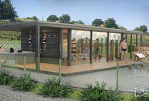 Wellness sauna house in the vineyard