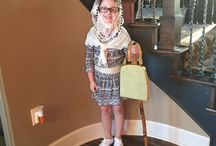 100 day off school / My daughter dressed up as a 100 yr old lady  / by Shelly Moroski