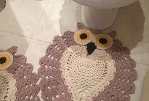 croche jogo banheiro
