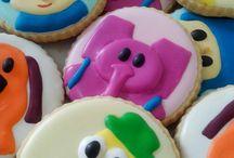 Biscoitos decorados Pocoyo