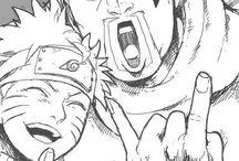 Killer Bee and Naruto
