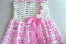 tığ işi çocuk elbiseleri