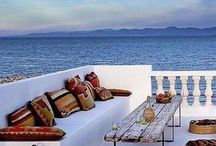 Greek inspired balcony