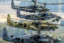 Helicópteros e aviões