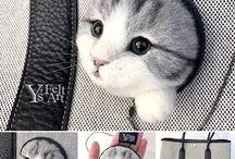 Валяные кошки