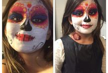 Halloween make-up by Yensi. / Make make-up for Halloween. For me and My daughter. She was La Muerte from the movie The book of life.