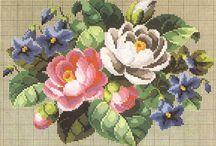 Punto croce fiori grandi