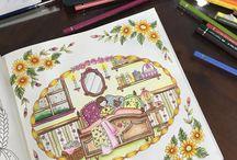 romantic coloring girl