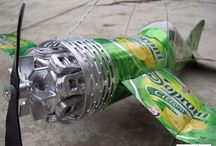 Recycled art-beer can plane in hungary by tamas kanya / recycling art in hungary