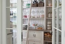 Chic Pantries / A collection of elegant pantries and ideas on how to organize them