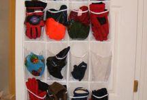Petits rangements pour echarpes et bonnets