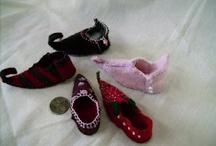 manó cipő filcből