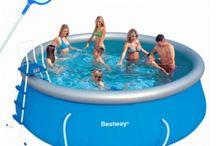Családi puha és merev falú medencék / Kerti medencék, medence tartozékok, vízforgító papírszűrők, Bestway medence, Intex medence