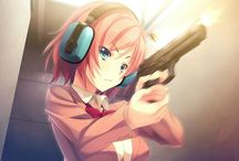 Anime girls with weapon