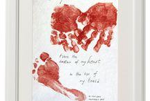 Hand print art / Hand print art
