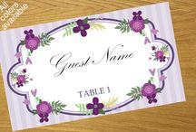Floral Place Card