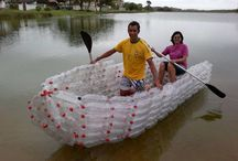 boats with recycled plastic bottles / Reciclaje