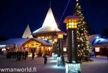 Santa Claus Village in Rovaniemi in Lapland / Photos and videos about Santa Claus Village in Rovaniemi in Finnish Lapland where Snowman World is located.
