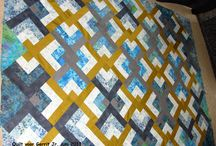 Zelfgemaakte quilts e.d.