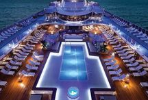 Cruise deck roof top pools