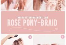 rose pony-braid
