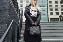 Instant Cool And The Black Leather Jacket / Look featuring leather jacket, bag and boots.